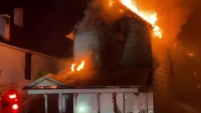 Crews respond to house fire in Dayton