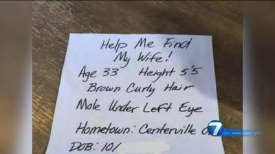 Handwritten flyers are showing up at houses, public places reporting woman missing. Police say they're bogus