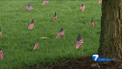 UD remembers victims of 9/11 with flag display campus