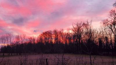 PHOTOS: Sunsets over snow create beautiful scenes across Miami Valley