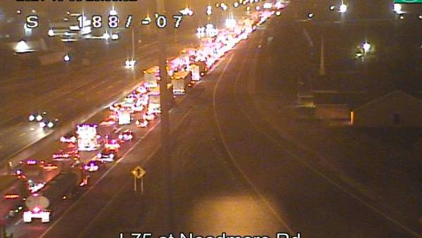 1 injured after 2 crashes on I-75 near Needmore Road Tuesday night