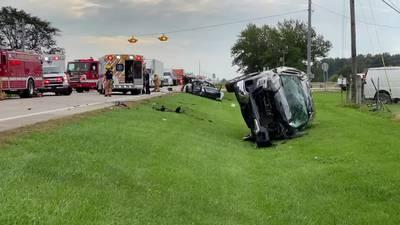 Two-Vehicle crash shuts down Route 49 near Arcanum; CareFlight called