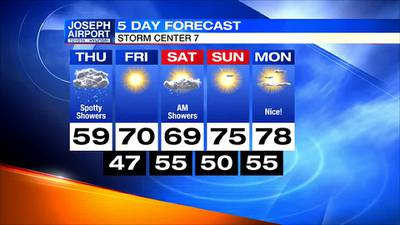 Thursday Midday 5-Day Forecast