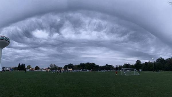 PHOTOS: Ominous clouds loom during Friday storms