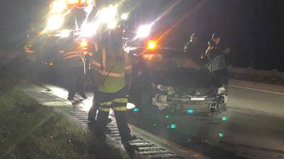 Crews respond to injury crash on I-675 in Miami Twp.