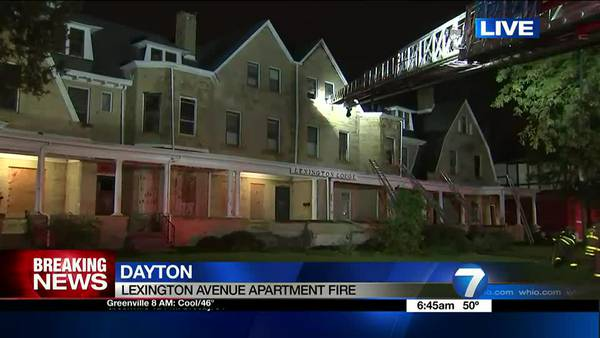 Crews on scene with vacant apartment fire in Dayton
