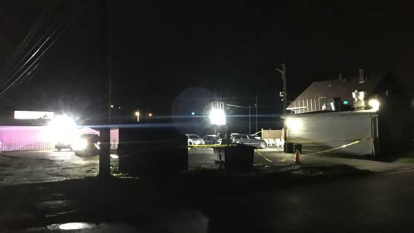 1 shot, transported to Dayton hospital; Suspect still at large