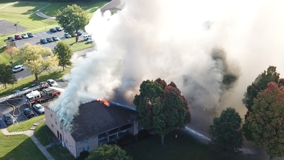 PHOTOS: Fire causes significant damage to Dayton apartment building