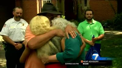 Piqua couple meets security dispatcher that helped save their lives in house fire
