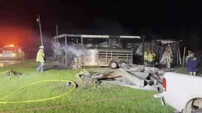 Barn destroyed after fire in Preble Co.