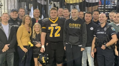 WHIO-TV Tonight: Sidney officer shot in the line of duty surprises son at high school senior night
