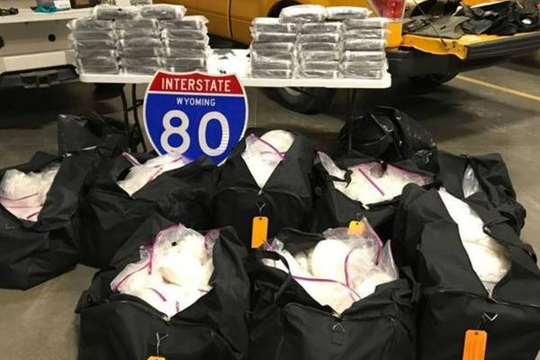 Big haul: Wyoming state troopers seize 601 pounds of meth