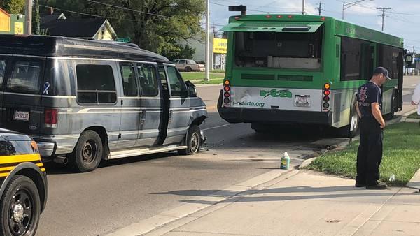 Crews respond to crash involving RTA bus in Harrison Twp.
