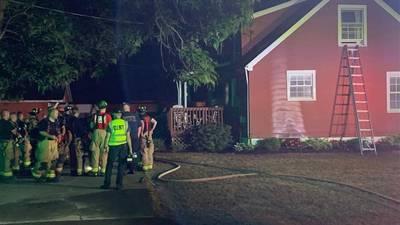 Crews respond to house fire in Beavercreek