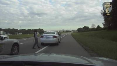 OSHP dash cam from pursuit ending in southern Montgomery County