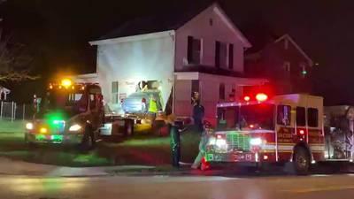 1 taken to hospital after car crashes into Dayton house