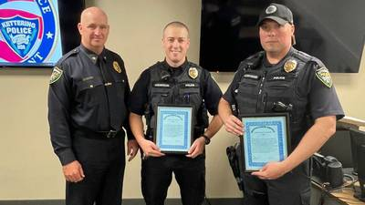 Kettering officers recognized for running toward gunfire at March 27 shooting scene