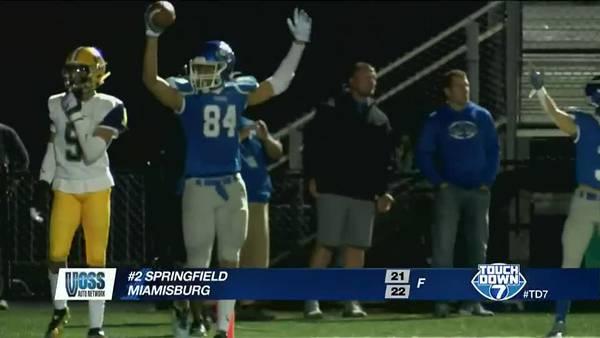Week 9: Miamisburg upsets #2 Springfield 22-21