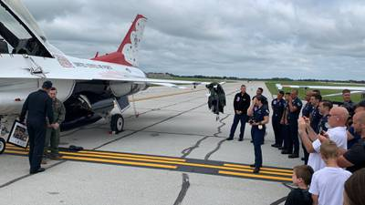DPD officer rides with U.S. Air Force Thunderbirds