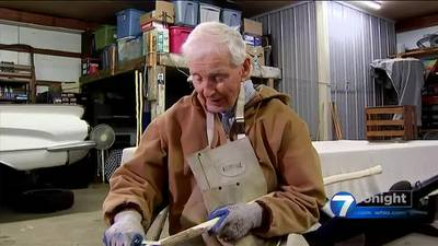 Making a Difference: 94-year-old veteran carves walking sticks to raise money for local food bank