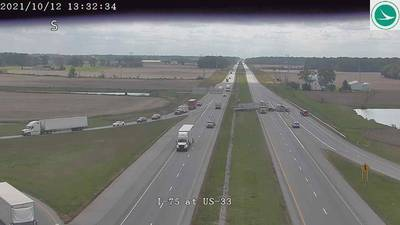 SB I-75 reopens in Auglaize County following overturned semi that closed highway for hours